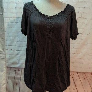 LRL stretchy black shirt
